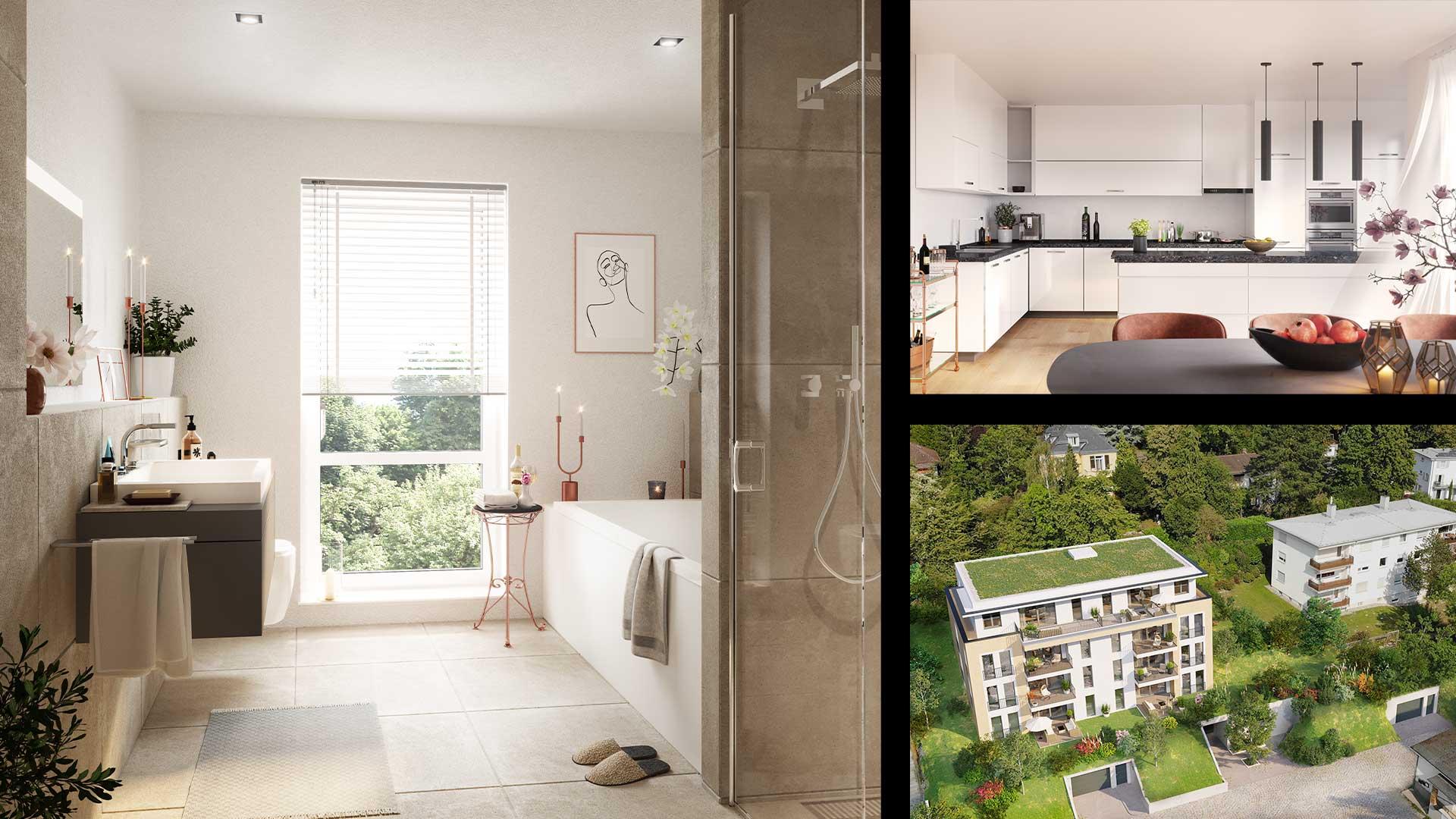 Immobilienmarketing The Walk Visualisierungen