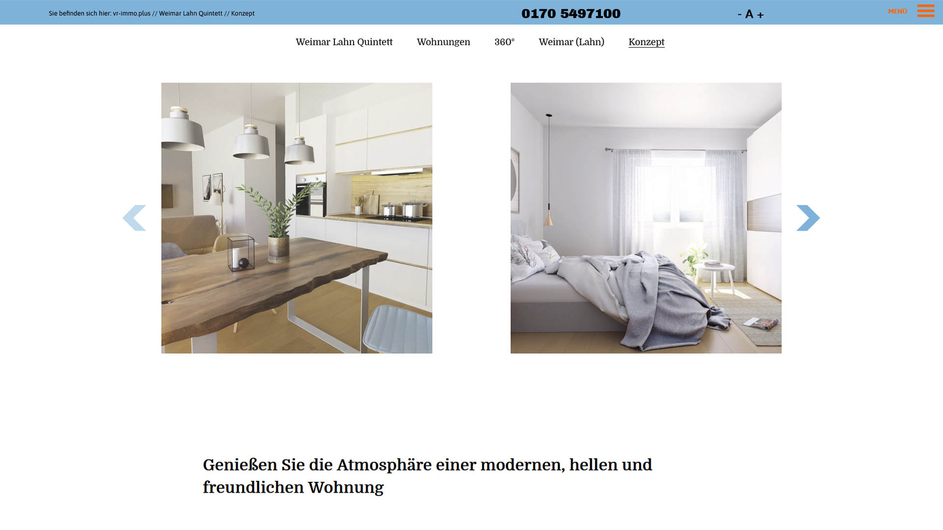 Immobilienmarketing vr-immoplus Webseite