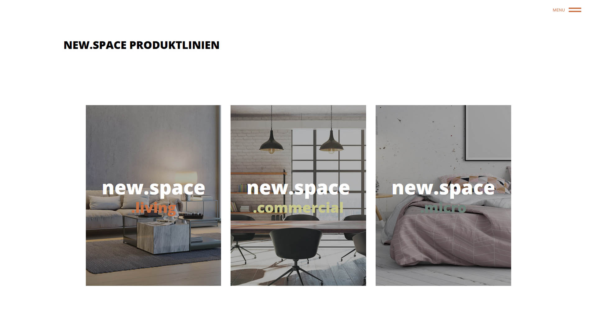 Immobilienmarketing new.space Webseite