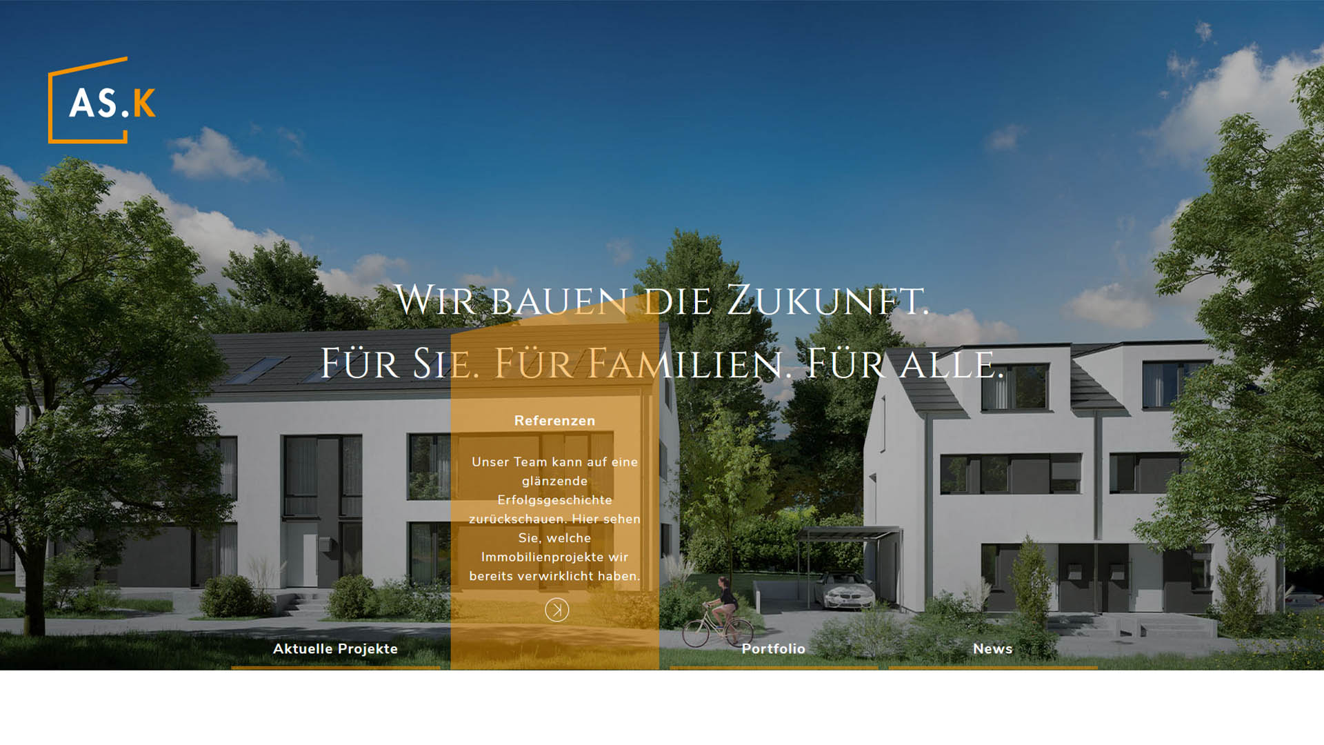 Immobilienmarketing AS Kapital Webseite