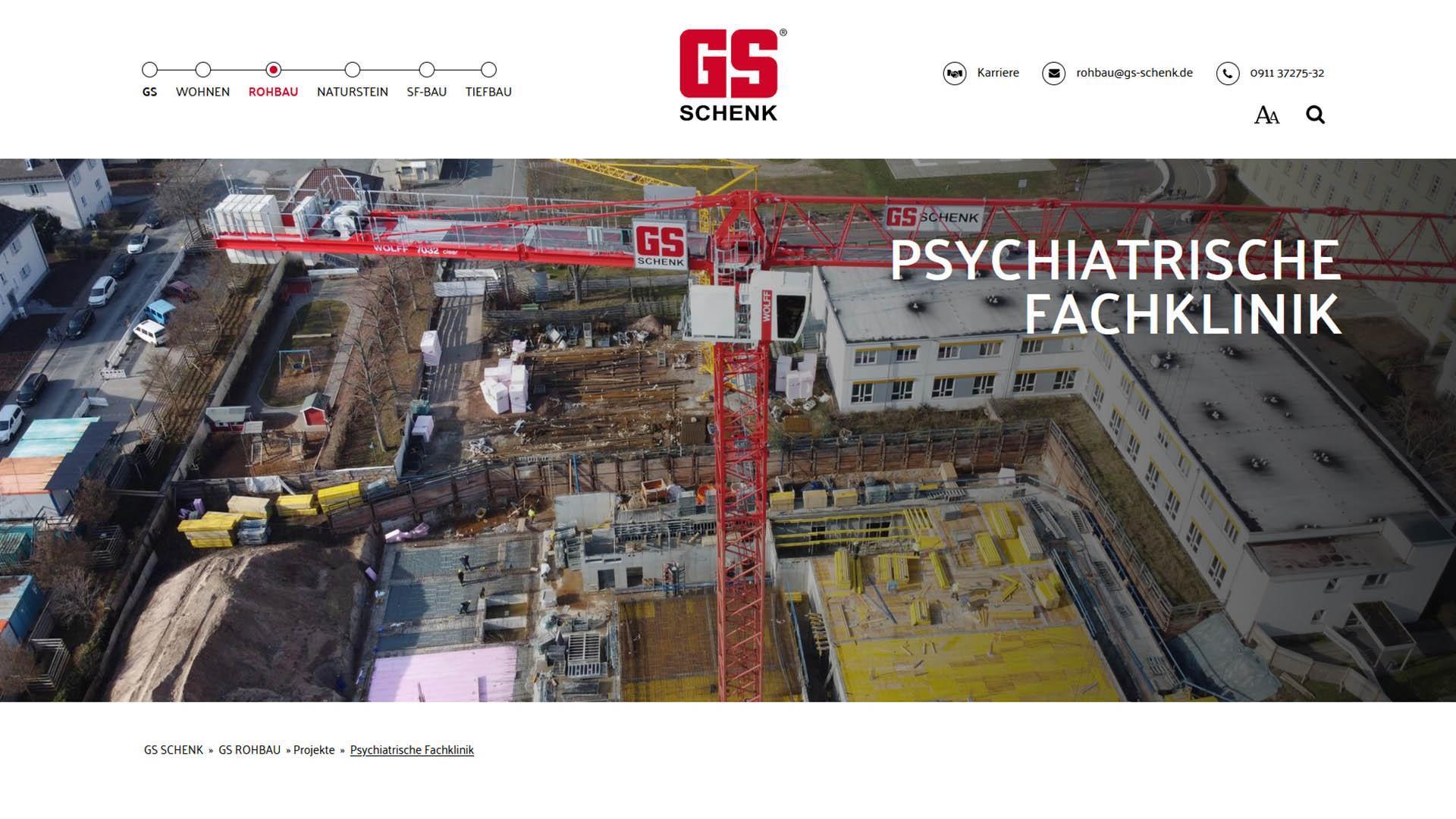 Immobilienmarketing GS Schenk Webseite
