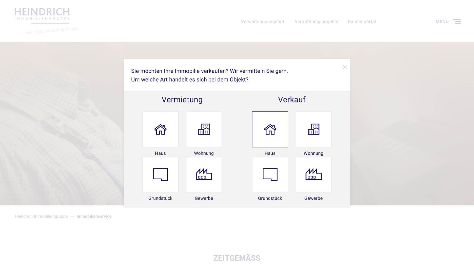 Immobilienmarketing Heindrich Immobilien Webseite