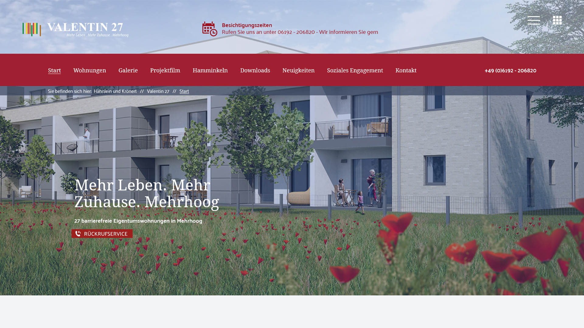 Immobilienmarketing HKI Webseite