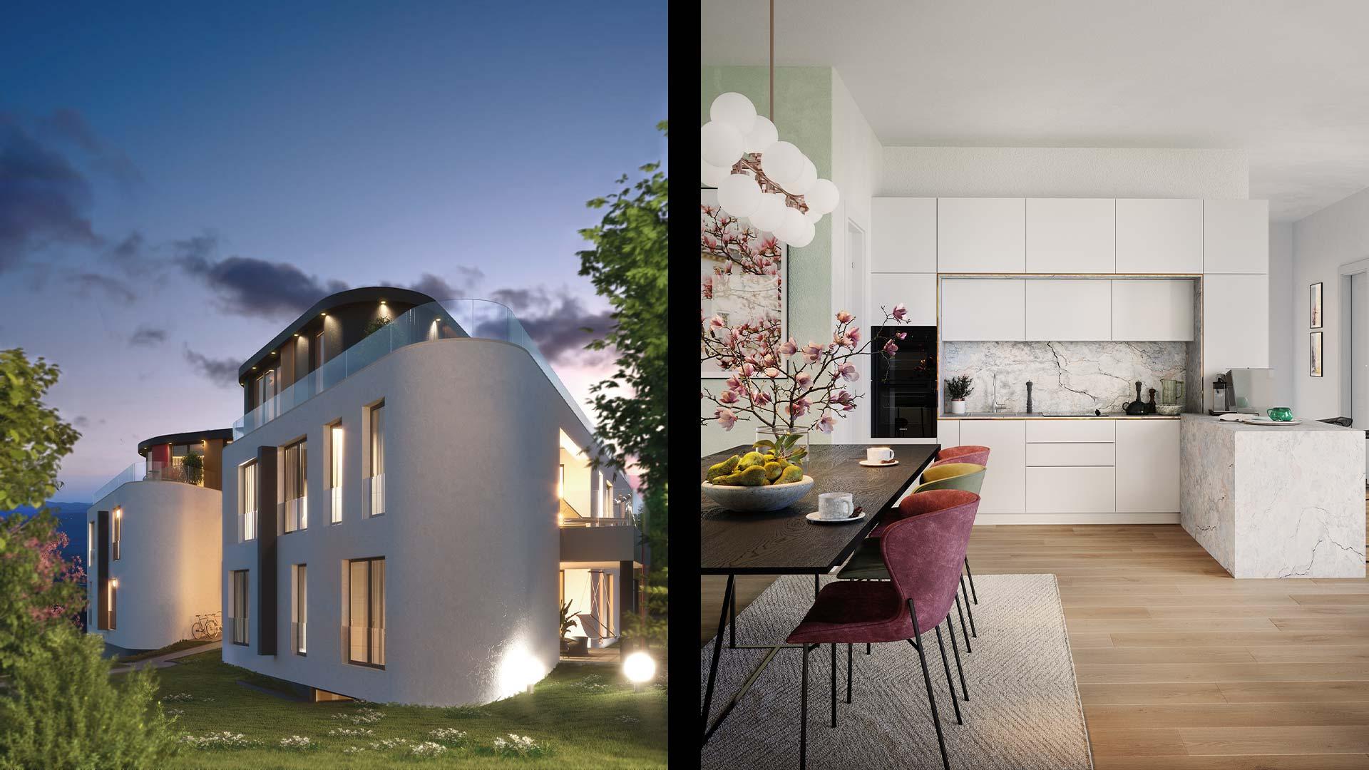 Immobilienmarketing Magnolia Visualisierungen
