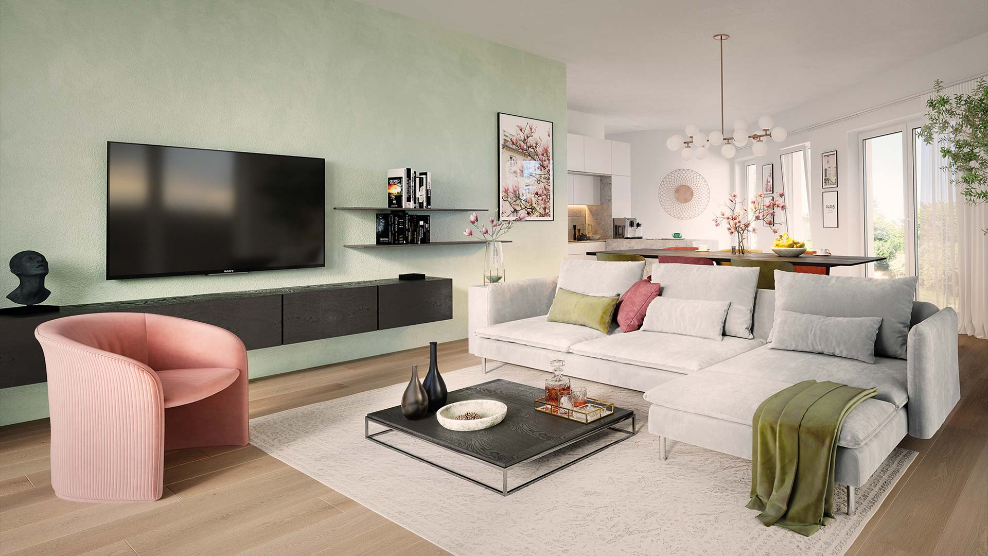 Immobilienmarketing Magnolia Visualisierung