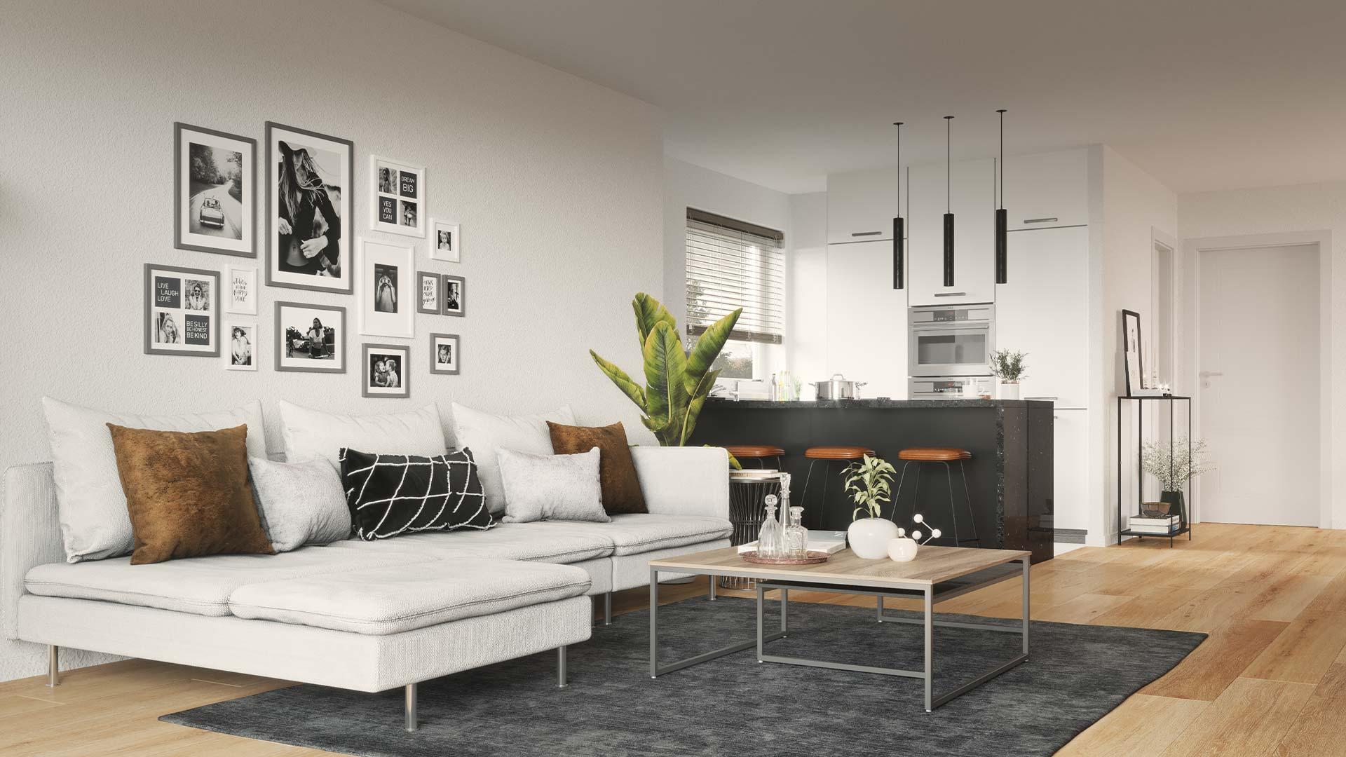 Immobilienmarketing Wiesenquartier Visualisierung